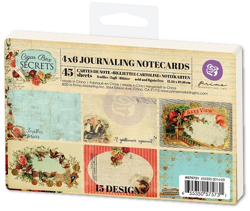 Cigar box secrets journaling pad 4x6