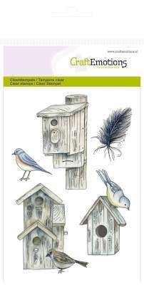 clearstamps A6 - Vogelhuisjes Botanical Summer