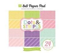 Echo Park Dots & Stripes Spring 8x8 Inch Paper Pad