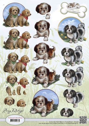 Amy Design - Animal Medley - Puppies