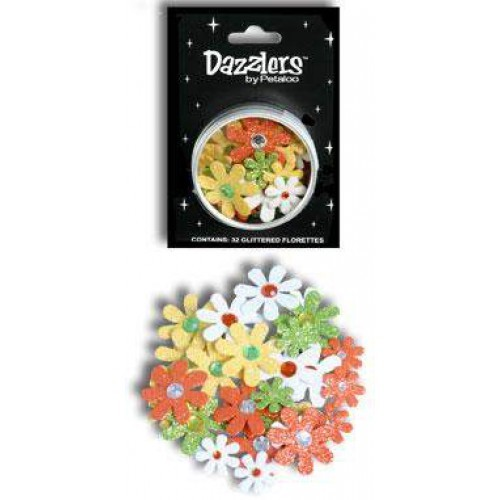 Petaloo Small Florette Dazzlers 32 st Baby`s Coming : Blauw/Rose/Wit/Geel