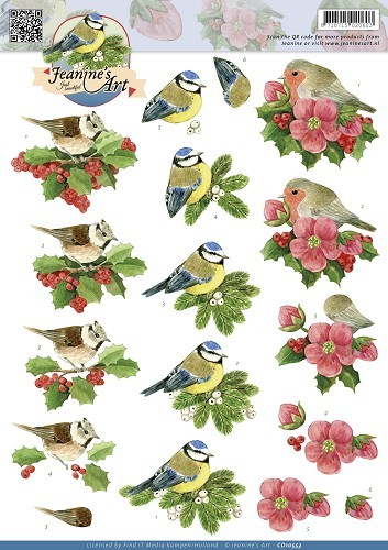 Jeanines Art - Christmas Birds