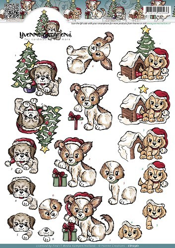 Yvonne Creations - Christmas Puppies