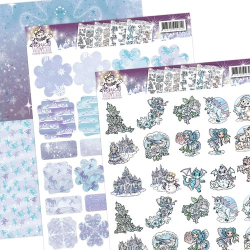 3D SET - Yvonne Creations - Magical winter - Minis & Labels