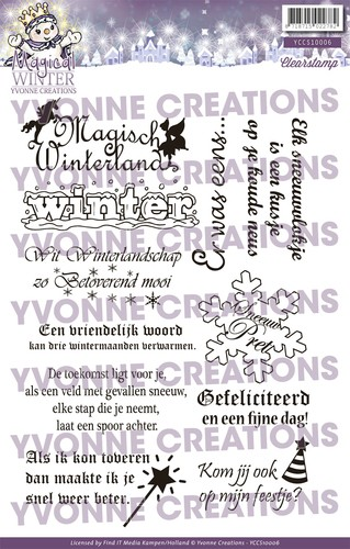 Clearstamp - Yvonne Creations - Magical winter - Tekst