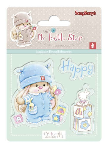 Bunny My Little Star - Set of stamps (7*7cm) - Bunny Birthday