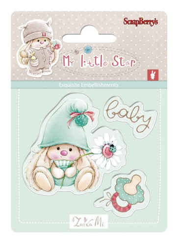 Bunny My Little Star - Set of stamps (7*7cm) - Baby Bunny