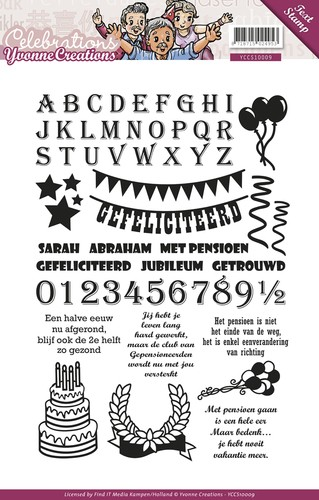 Clearstamp - Yvonne Creations - Celebrations - Tekst