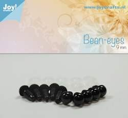 bean eye, black 9mm 10 pcs