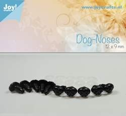 dog nose, black 12x9mm 10 pcs