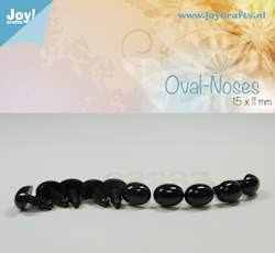 oval nose, black 15x11mm 10 pcs