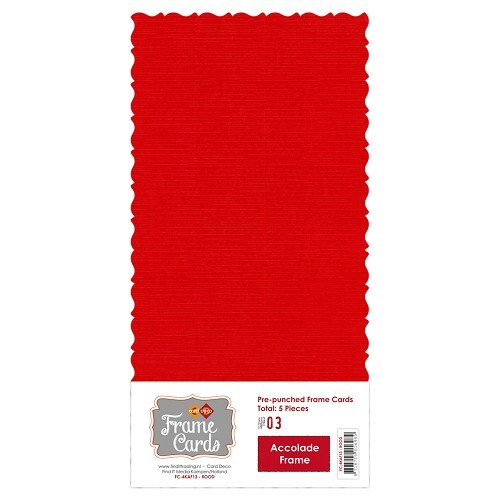 Frame Cards - Accolade - Vierkant -rood