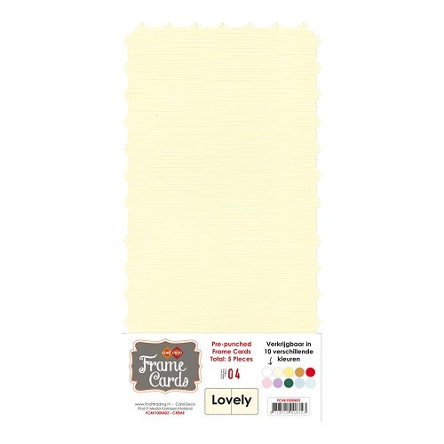 Frame Cards - Lovely - Vierkant -creme