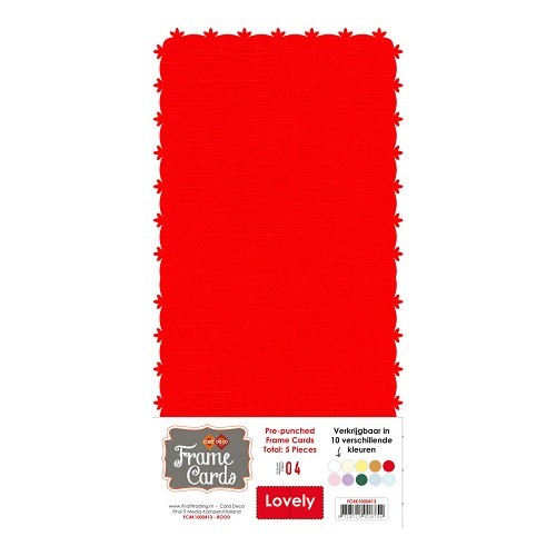 Frame Cards - Lovely - Vierkant -rood