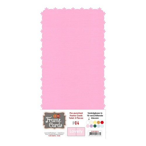 Frame Cards - Lovely - Vierkant -roze