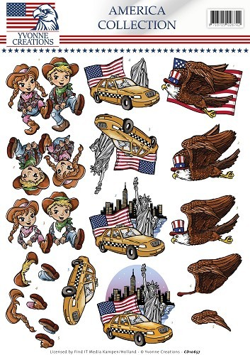 Yvonne Creations - America Collection - Cowboy & girl