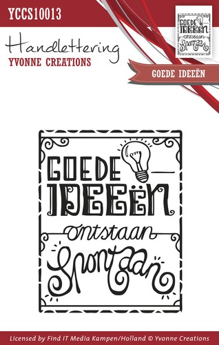 Clearstamp - Handlettering - Yvonne Creations - Goede ideeën