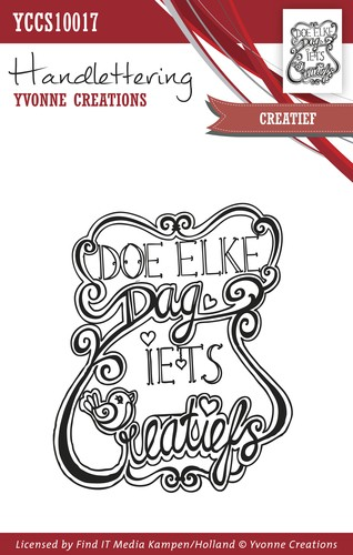 Clearstamp - Handlettering - Yvonne Creations - Creatief