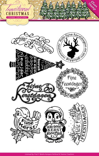 Clearstamp - Yvonne Creations - Traditional Christmas - Tekst