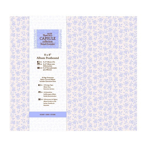 8 x 8 Album Postbound (10 Page Protectors) - French Lavender