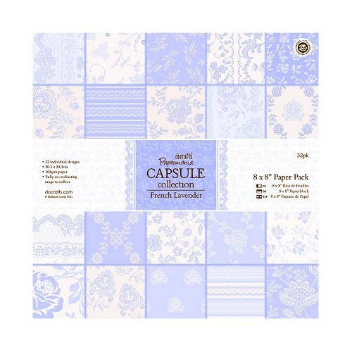 8 x 8 Paper Pack (32pk) - French Lavender