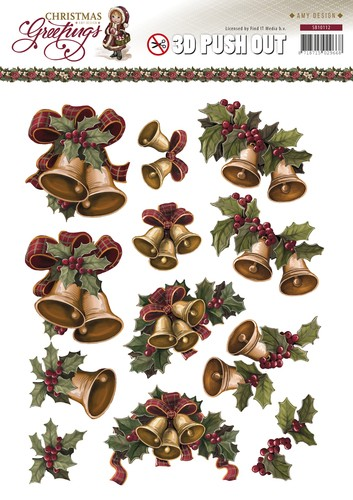 3D Pushout - Amy Design - Christmas Greetings - Kerstklokken