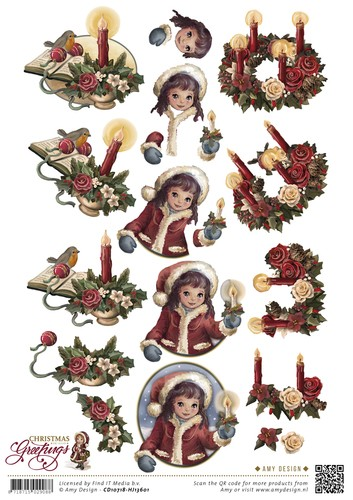 Amy Design - Christmas Greetings - Kerstkaarsen