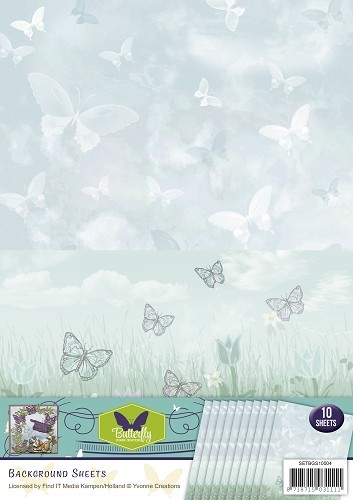 Background sheets - Yvonne Creations - Butterfly Collection