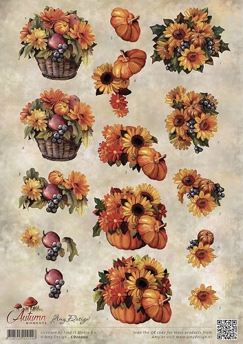 Amy Design - Autumn Moments - Herfstbloemen