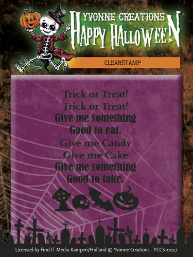 Clearstamp - Yvonne Creations - Happy Halloween