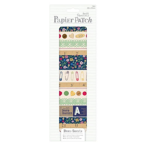 Deco Sheets (3pcs) - Papier Patch - Haberdashery