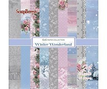 ScrapBerry`s Winter Wonderland Paper Set 6x6 Inch One Sided (24 Sheets Per Pack)