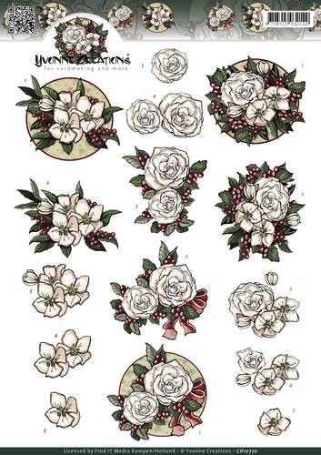 Yvonne Creations - White Christmas flowers