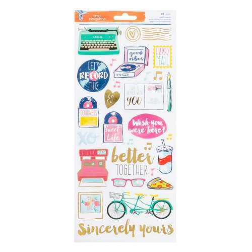 "American Crafts stickers 6x12"" x2 better together"