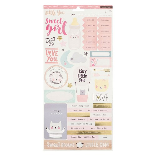 Crate paper stickers little you x2 girl