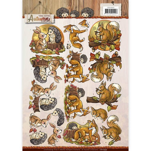 Yvonne Creations - Autumn Colors - Autumn Animals