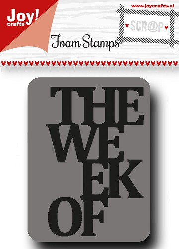 Scrap Foamstempel - The week of