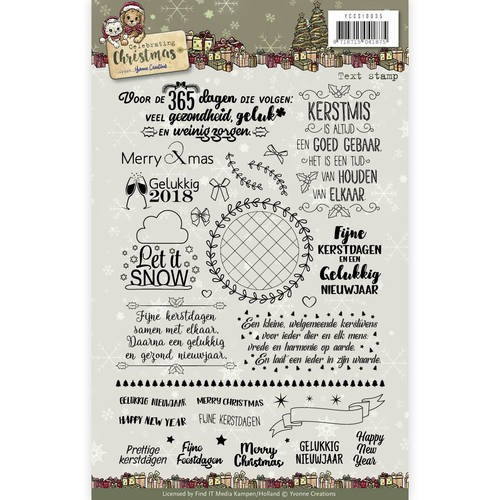 Clear Stamp Text- Yvonne Creations - Celebrating Christmas