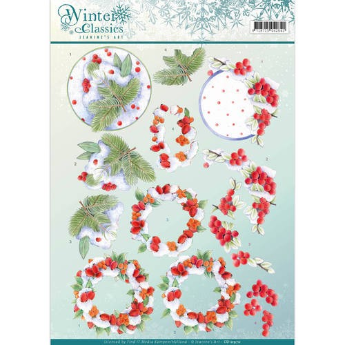 Jeanine`s Art - winter classics- Winterberries