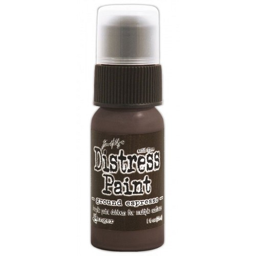 Tim Holtz distress paint ground espresso