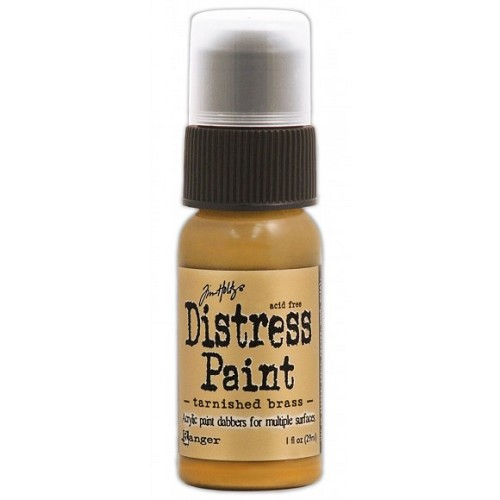 Tim Holtz distress paint metallic tarnished brass