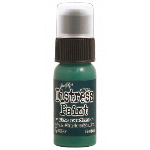 Tim Holtz distress paint pine needles