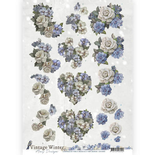 Amy Design - Vintage winter - Winter Flowers