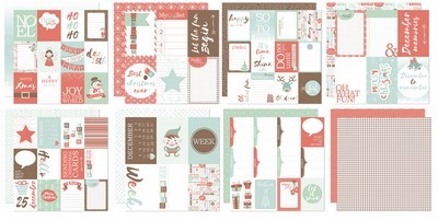 Joy! Scrap Designpapier Project life - December to remember