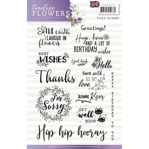 Textstamp - Precious Marieke - Timeless Flowers - Tekst English
