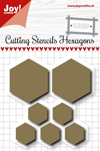 Joy! scrap stencil hexagons