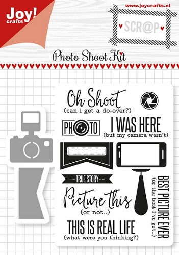 Joy! stempel met mal photo shoot kit