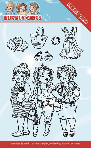 Clear Stamps - Yvonne Creations - Bubbly Girls - Girlfriends