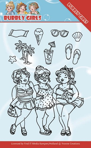 Clear Stamps - Yvonne Creations - Bubbly Girls - Beach Girls