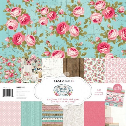 Kaisercraft paper pack 30,5x30,5cm Miss Betty